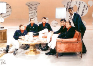 Jay & the Americans on the set of Hullabaloo with Sammy Davis, Jr.