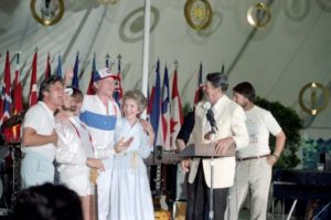 The Reagans with The Beach Boys