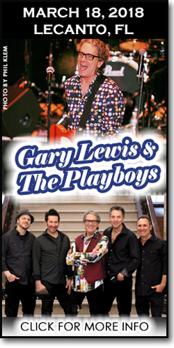 Gary Lewis at the Curtis Peterson Auditorium