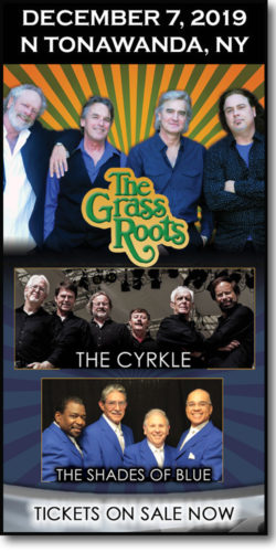 The Grass Roots & The Cyrkle perform live in concert at the Riviera Theatre in N Tonawanda, NY on December 7, 2019.