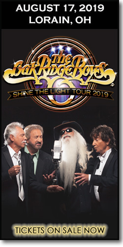 The Oak Ridge Boys appearing for one-night only concert at the Lorain Palace Theatre in Ohio on August 17, 2019.