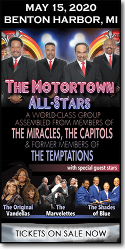 Get concert tickets to The Motortown All-Stars, The Original Vandellas, the Marvelettes & the Shades of Blue on Friday, May 15, 2020, at the Mendel Center.