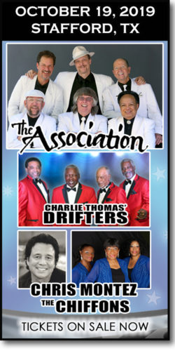 The Association, Drifters, Chiffons & Chris Montez at the Stafford Centre