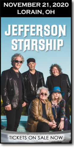 Get tickets for the Jefferson Starship concert at the Lorain Palace on November 21, 2020.
