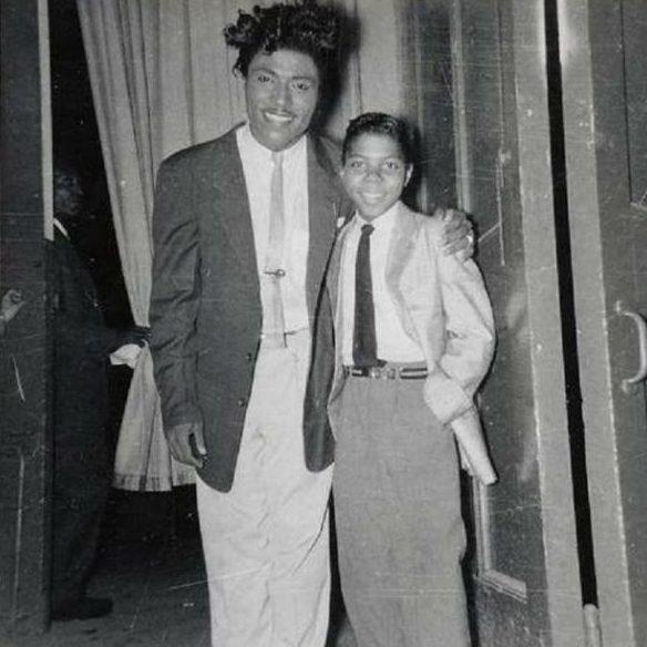 Little Richard with Frankie Lymon, 1956