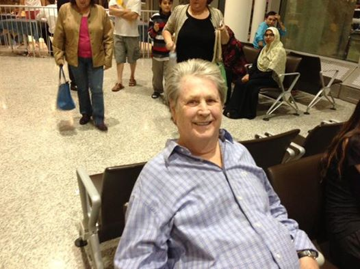 Brian Wilson arrives in Canada for TIFF