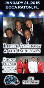 Little Anthony & the Imperials' Farewell Tour comes to Boca Raton Jan 31, 2015
