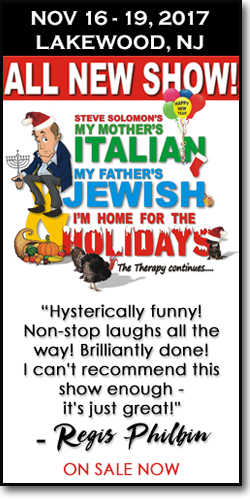 """My Mother's Italian, My Father's Jewish & I'm Home for the Holidays... The Therapy Continues!"""