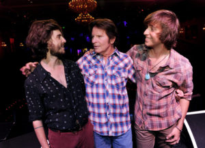 John Fogerty with sons Shane and Tyler