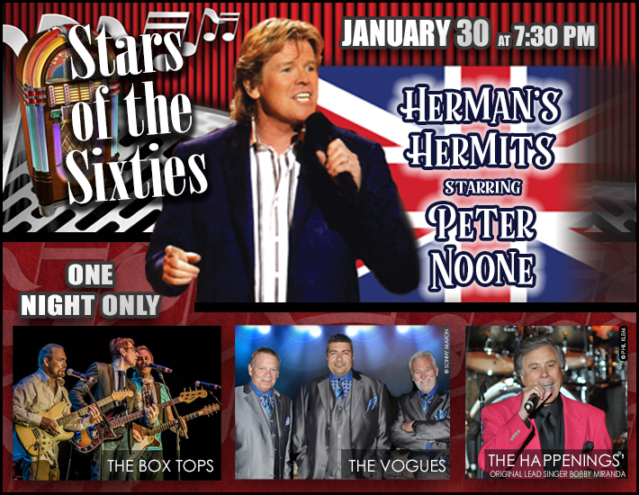 Herman\'S Hermits Tour 2020 Stars of the Sixties w/ Herman's Hermits starring Peter Noone in