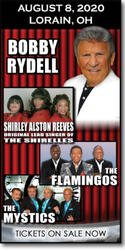 Get tickets for Stars of the Sixties: Bobby Rydell concert, Shirley Alston Reeves, The Mystics & The Flamingos at the Lorain Palace on August 8, 2020.