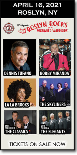Help Roslyn Rocks for Operation Wounded Warrior raise money for firefighters w/this 60s concert (April 16, 2021): Dennis Tufano, La La Brooks, Skyliners & more