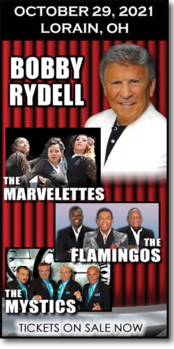 Get tickets for Stars of the Sixties: Bobby Rydell concert, The Marvelettes, The Mystics & The Flamingos at the Lorain Palace on Friday, October 29, 2021.