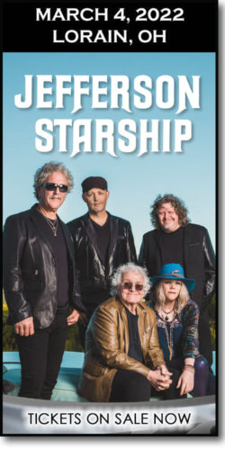 Get tickets for the Jefferson Starship concert at the Lorain Palace on March 4, 2022.