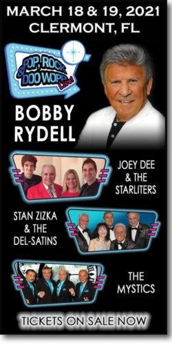 03-18-21 Pop, Rock & Doo Wopp Live concert at the Clermont PAC (Bobby Rydell, Joey Dee & the Starliters, Stan Zizka & the Del-Satins, & the Mystics)